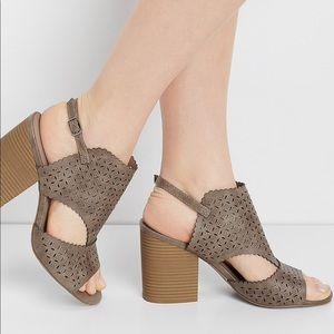 Maurices • Vegan leather laser cut block heels